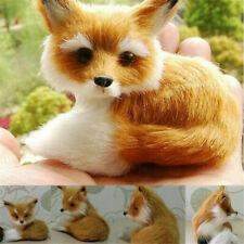 HOT Lifelike Realistic Stuffed Animal Soft Plush Sitting Fox Home Decor Kids Toy