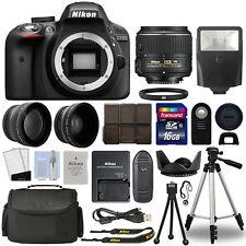 Nikon D3300 Digital SLR Camera + 18-55mm VR 3 Lens Kit + 16GB Top Value Bundle