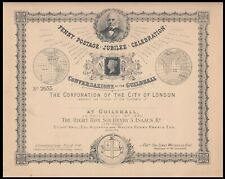 1890 Penny Postage Jubilee Celebration Card.