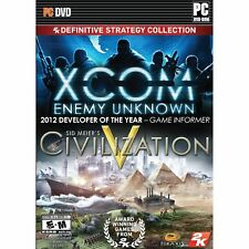 XCOM ENEMY UNKNOWN CIVILIZATION V 2K Definitive Strategy (PC) DISC ONLY NO CASE