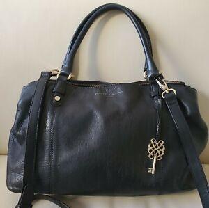 Bailey & Quinn Real Leather Tote Shoulder Bag Black Large