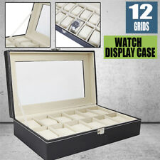 12 Slot /Grid Watch Box Jewelry Display Container Storage Holder Present Gift