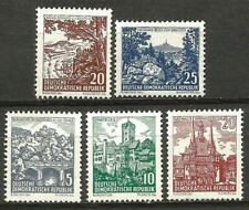 Germany (East) DDR GDR 1961 MNH - Landscapes and Historical Buildings
