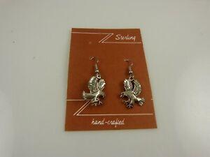 eagle handcrafted earring earrings  .925  vintage 80's