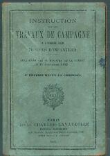 Instruction à l'usage des troupes d'infanterie 1902 Militaria Armée Guerre Army