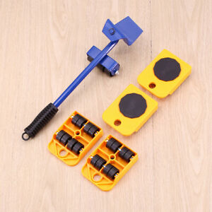 Heavy Furniture Lifter Mover Transport Portable Moving Lift Move Pry Stick