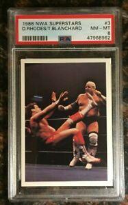 1988 Wonderama NWA Superstars #3 Dusty Rhodes PSA 8 NM-MT Wrestling Card