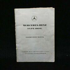 Original 1955 Mercedes-Benz 190SL Manual