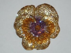 Joan Rivers Classic Pansy Flower Pin.