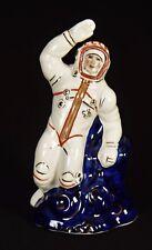 Russische Porzellanfigur Porzellan Kobalt UdSSR CCCP Astronaut Kosmos