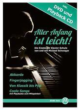"""Tolles Notenheft für Klavier und E-Piano Einsteiger """"Aller Anfang ist Leicht"""""""