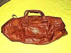 Men's Genuine Leather Vintage Duffel Travel Gym Sports Weekend Overnight Bag