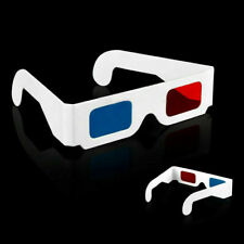 1x Universal Anaglyph Cardboard Paper Red Blue Cyan 3D Glasses For Movie M5R8