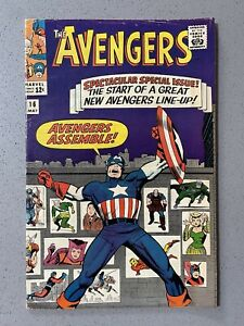 AVENGERS #16 (1965) FN Key Book! Scarlet Witch & Quicksilver Join! Glossy!!