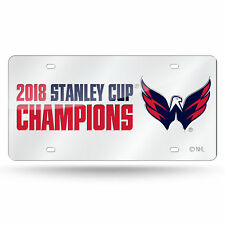 Washington Capitals 2018 NHL Stanley Cup Champions Laser Mirrored License Tag