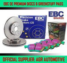 EBC FRONT DISCS GREENSTUFF PADS 256mm FOR MITSUBISHI COLT 1.8 GTI C58A 1990-92