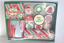 Melissa & Doug Wooden Christmas Cookie Play Set Pretend Wood Slice & Bake Toy
