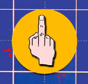 Give 'em the bird BIRD FINGER BALL MARKER--Show your opponent just how you feel!