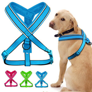 Reflective Nylon Pet Harness Breathable Mesh Dog Strap Vest for Small Large Dogs