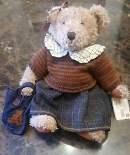 RUSS BERRIE Vintage Collection Lady Meredith Collectible Bear COA Great Gift  P4