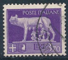 Francobolli 1929  REGNO IMPERIALE LIRE 3,70 USATO  -   RE26-8