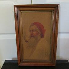 "Framed Print ""The Contented Old Man"" Signed"