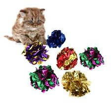 24x Cat Kitten Toy Mylar Balls Colorful Ring Paper Shiny Crinkly Balls Sound Toy