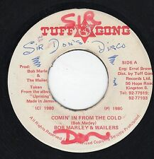 """ COMING IN FROM THE COLD. "" bob marley & the wailers. TUFF GONG 7in 1980."