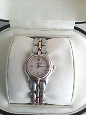 Bertolucci Ladies Two-Tone Pulchra Quartz Watch Vintage 18K Gold Luxury Box
