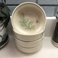 """Lenox Temperware Ironstone Fancy Free Butterfly 6"""" Soup Cereal Bowls Set of 4"""