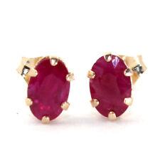 Ruby Yellow Gold 10k Fine Earrings