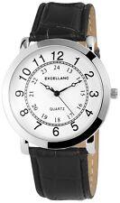Excellanc Herrenuhr Zifferblatt Weiß 24h Anzeige  Armbanduhr  SE578