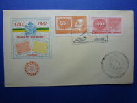 LOT 12407 TIMBRES STAMP ENVELOPPE TIMBRE SUR TIMBRE BRESIL BRAZIL ANNEE 1961