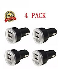 4x Usb Car Charger Adapter 2.1A For Lg Htc Samsung iPhone All Cell Phone Black
