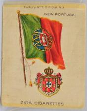 Early 1900s Zira Cigarettes Tobacco Silk New Portugal Flag Country Nation Cigar