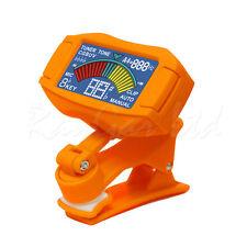 ENO et-35 arancione Clip On cromatica Acustico Elettrico Chitarra Basso Ukulele Sintonizzatore