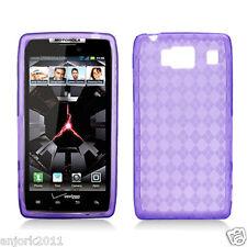 Motorola Droid Razr HD XT926 CANDY SKIN TPU GEL COVER CASE PURPLE