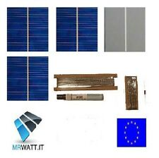 "KIT 108 CELLE SOLARI FOTOVOLTAICHE 78x78mm 3""x3"" SOLAR CELLS CELL PANEL PANNELLO"