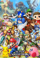 Super Smash Brothers - Huge Wall  Poster  15in x 24in ( Fast Shipping ) 901