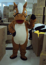 Special Offer!Horse Adult Mascot Costume Fancy dress(Head is a bubble)