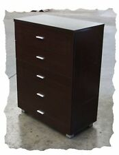 Connie Walnut 5 Drawer Tallboy - BRAND NEW