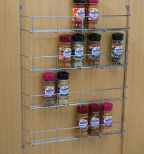 4 TIER SPICE RACK - CHROME - 400MM - TRADE PACK OF SIX