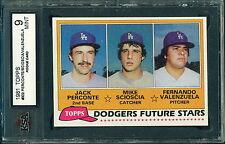 1981 Topps #302 Scioscia/Valenzuela rc KSA 9 como nuevo!!!! de los Dodgers de futuras estrellas