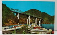 Hinton WV Bluestone Bridge as Viewed From Boat Dock Postcard E8