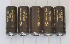 Condensadores, axial, 1000µf 40v, low ESR, 105 ° C M. bypass-C, 5 trozo