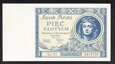 Poland 5 Zlotych 1930  AU  P. 72, Banknote, Uncirculated