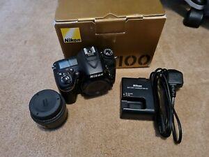 Nikon D D7100 24.1MP Digital SLR Camera - Black (Body only) (European MPN)