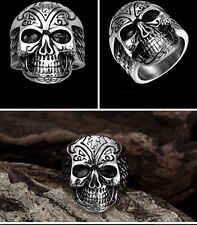 Señores anillo de acero inoxidable Skull & Wings 81 masivamente Biker rocker Chopper mc BRM (re41)