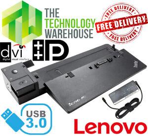 Lenovo Thinkpad Pro Laptop Docking Station 40A1 - USB 3.0 - Inc. Power Supply