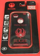 ALLEN iPhone 4 / 4/s Phone case PROTECTED BY RUGER Black with RUGER LOGO